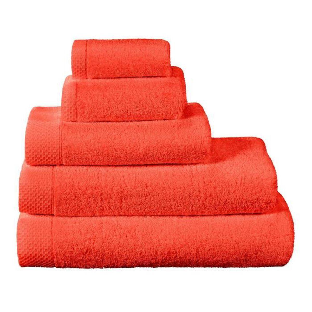 Tapis de bain la mousseuse 60 x 80 corail achat vente tapis de bain cdiscount Tapis de bain mousse memoire