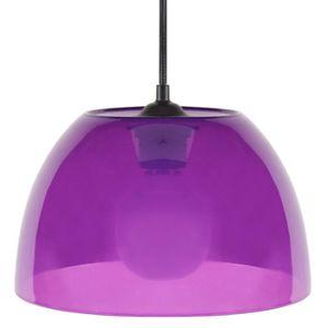 Lustre - suspension Plexi E27 15 W ?25 cm Violet