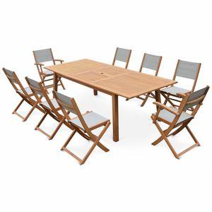 grande table de jardin avec chaises achat vente grande table de jardin avec chaises pas cher. Black Bedroom Furniture Sets. Home Design Ideas