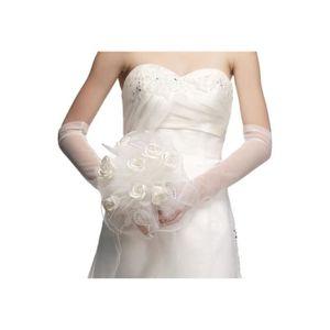 Bouquet de fleurs avec p tales entour s de strass pour la mari e blanc unique achat - Strass pour bouquet de mariee ...