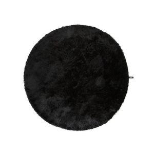 Tapis rond noir achat vente tapis rond noir pas cher for Tapis noir poil long pas cher