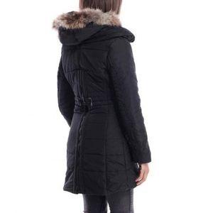 DOUDOUNE Doudoune à capuche et zip dos noir
