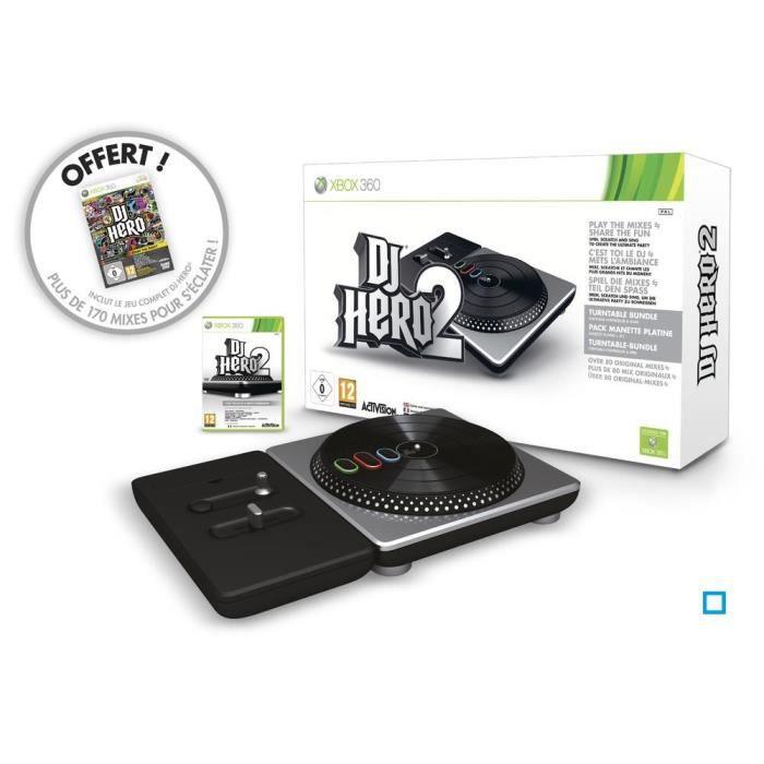 JEUX XBOX DJ HERO 2 + Platine / jeu console XBOX360