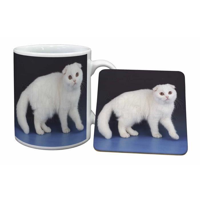 blanc cossais cat fold tasse et russes animaux cadeau de. Black Bedroom Furniture Sets. Home Design Ideas