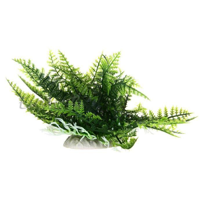 Plante artificielle herbe aquatique vert d co ornement for Deco plante artificielle