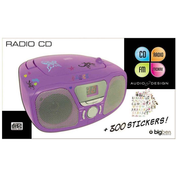 bigben cd46vstick lecteur cd portable violet radio. Black Bedroom Furniture Sets. Home Design Ideas