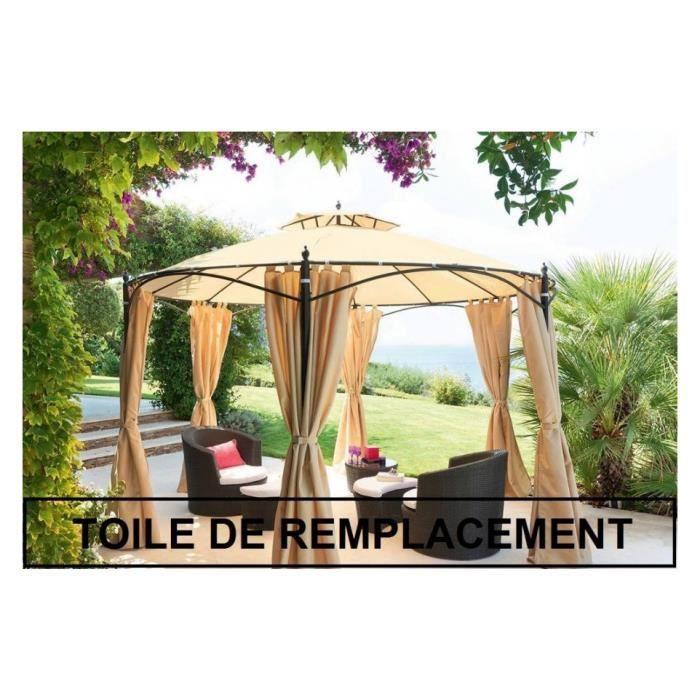 Toile De Remplacement Pour Tonnelle Ronde Iloha Toile
