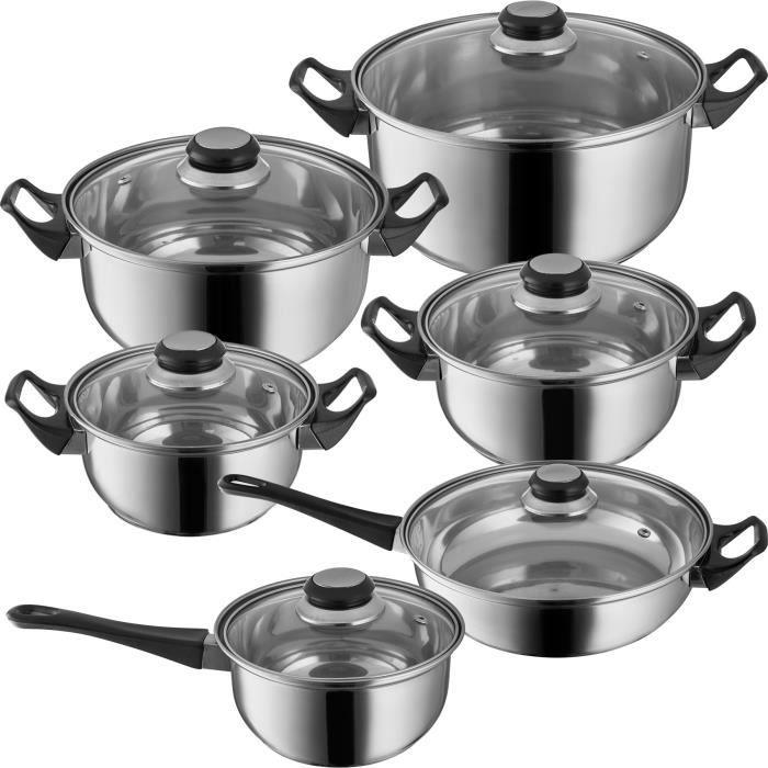 Batterie de cuisine casseroles et po les en acier - Pentole mondial casa prezzi ...