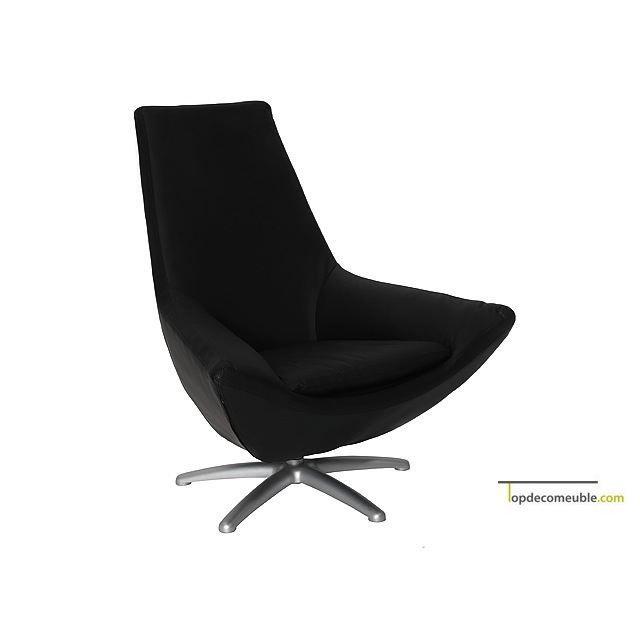 Fauteuil moderne pivotant bresil achat vente fauteuil noir cdiscount - Moderne fauteuils ...
