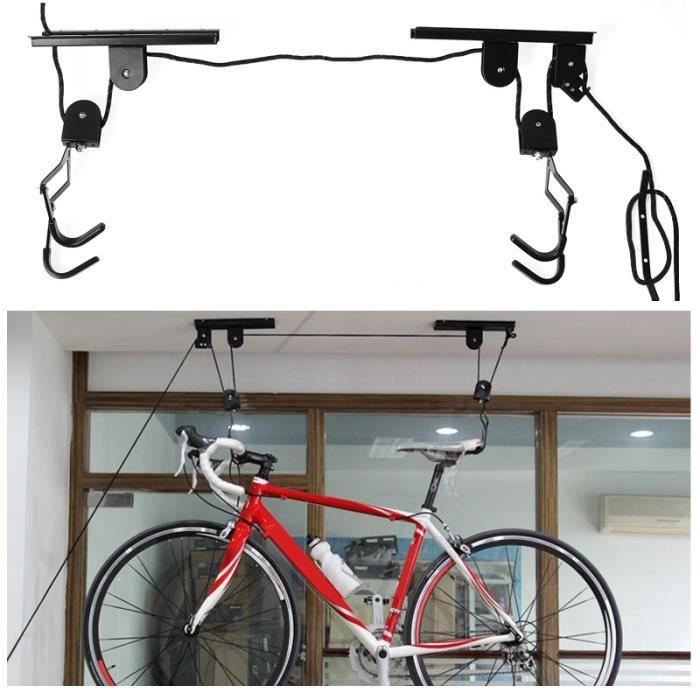 Trixes dispositif de rangement levage et montage au for Rangement au plafond garage