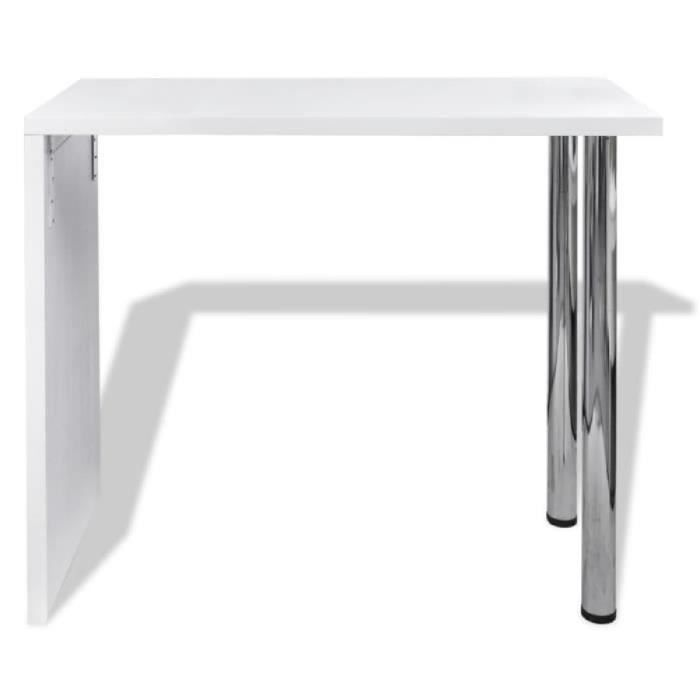 Table blanche verniss e table de bar 2 pieds achat for Table bar blanche