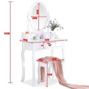 meuble coiffeuse avec miroir achat vente meuble. Black Bedroom Furniture Sets. Home Design Ideas