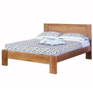 Lit en bois massif pas cher lit bois massif linea naturel - Cadre de lit pas cher 140x190 ...