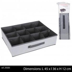 organisateur de tiroir boite 12 compartiments noirgrisblc casier de r - Organisateur De Tiroir