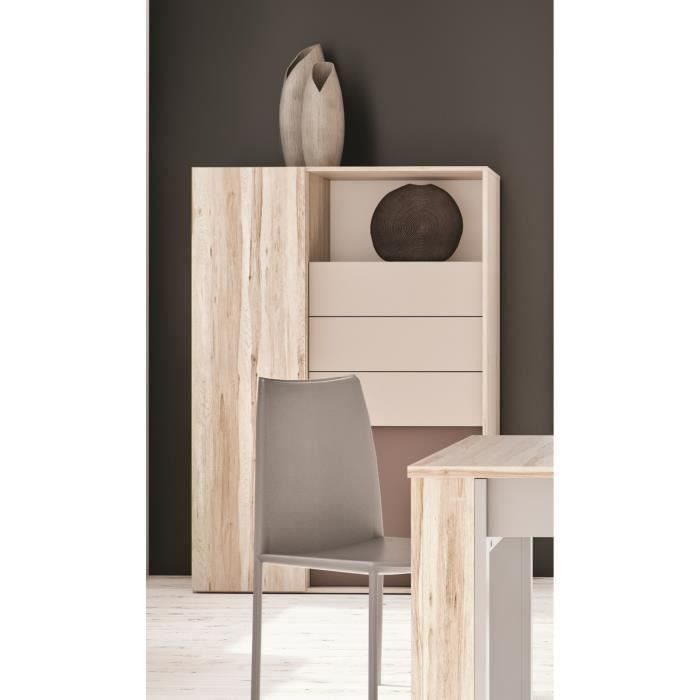 nova buffet 110 cm bouleau gris achat vente buffet bahut nova buffet 110 cm bois. Black Bedroom Furniture Sets. Home Design Ideas