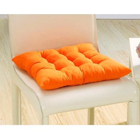 1 galettes de chaise coussin de chaise assise matelass e double 40x40cm orange achat. Black Bedroom Furniture Sets. Home Design Ideas
