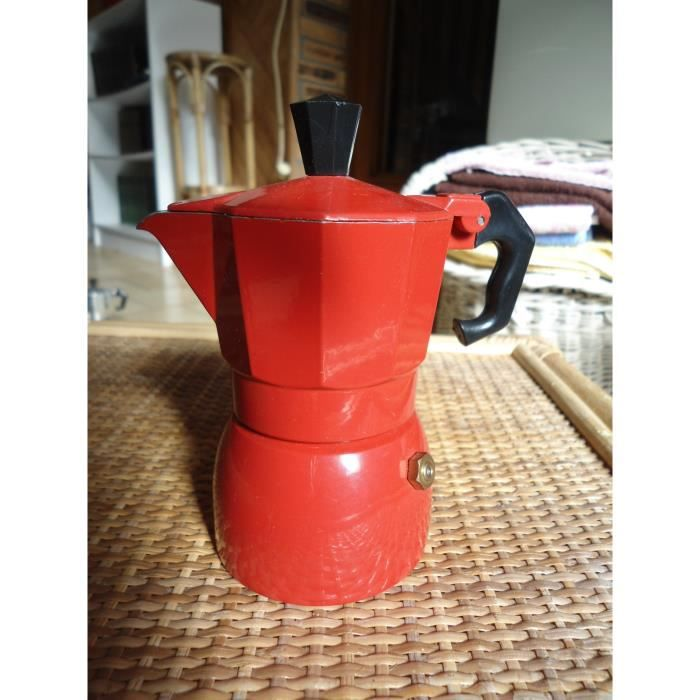Cafetiere italienne expresso 1 tasse rouge top achat vente cafeti re th i re cdiscount - Cafetiere italienne 1 tasse ...
