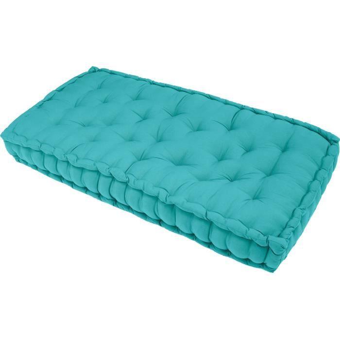 matelas de sol banquette serge turquoise 60x120x15 achat vente coussin matelas de sol. Black Bedroom Furniture Sets. Home Design Ideas