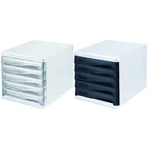 helit bloc de rangement 5 tiroirs gris lumi r achat. Black Bedroom Furniture Sets. Home Design Ideas