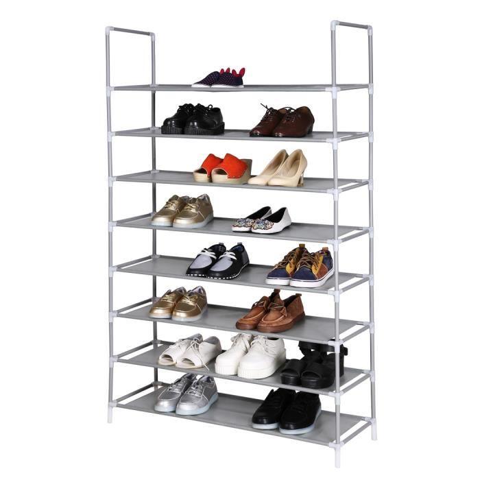 tag re chaussures organisateur rangement portable 8 niveau achat vente meuble. Black Bedroom Furniture Sets. Home Design Ideas