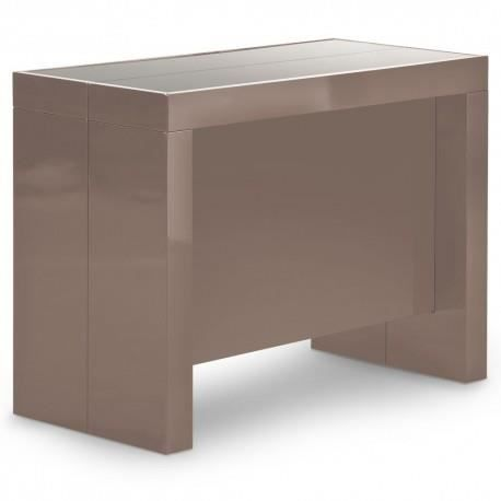 Table console extensible vegas taupe achat vente table for Table basse vegas