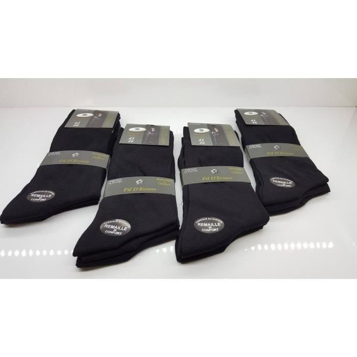 lot 6 paires de chaussettes homme en fil d 39 cosse 100. Black Bedroom Furniture Sets. Home Design Ideas