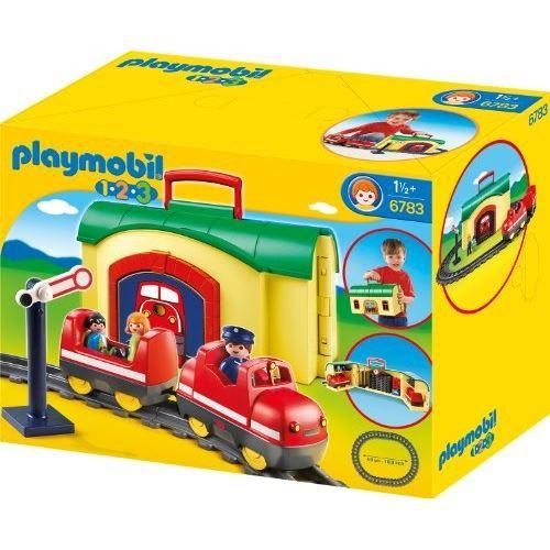 Playmobil 6783 123 train avec gare transportable achat - Train playmobil ...