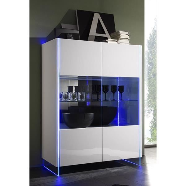 buffet delta led 2 portes vitrine miroir avec led achat vente buffet bahut buffet delta. Black Bedroom Furniture Sets. Home Design Ideas