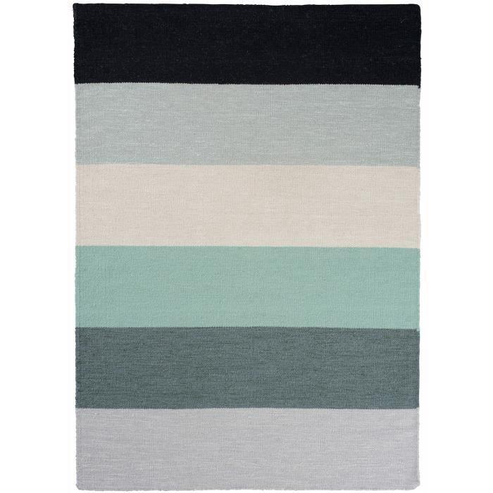 tapis plat pour salon boa vert 140x200 par unamourdetapis tapis moderne achat vente tapis. Black Bedroom Furniture Sets. Home Design Ideas