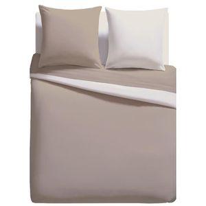 parrure de couette unie 220x240 achat vente parrure de couette unie 220x240 pas cher. Black Bedroom Furniture Sets. Home Design Ideas