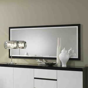 miroir laque noir et blanc