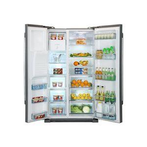 haier refrigerateur americain silver hrf628af6 r frig rateur. Black Bedroom Furniture Sets. Home Design Ideas