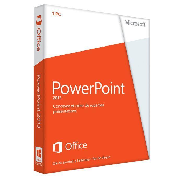 LOGICIEL BUREAUTIQUE  Microsoft PowerPoint 2013 1PC Carte d'activation