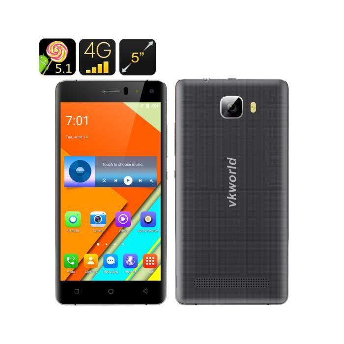 t l phone smartphone 4g cran hd 5 pouces mtk6735 2 go de ram 16 go rom android 5 1 noir. Black Bedroom Furniture Sets. Home Design Ideas