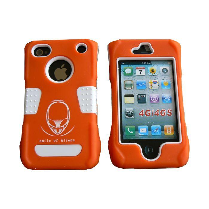 coque iphone 4 rigide int grale orange incassab achat. Black Bedroom Furniture Sets. Home Design Ideas