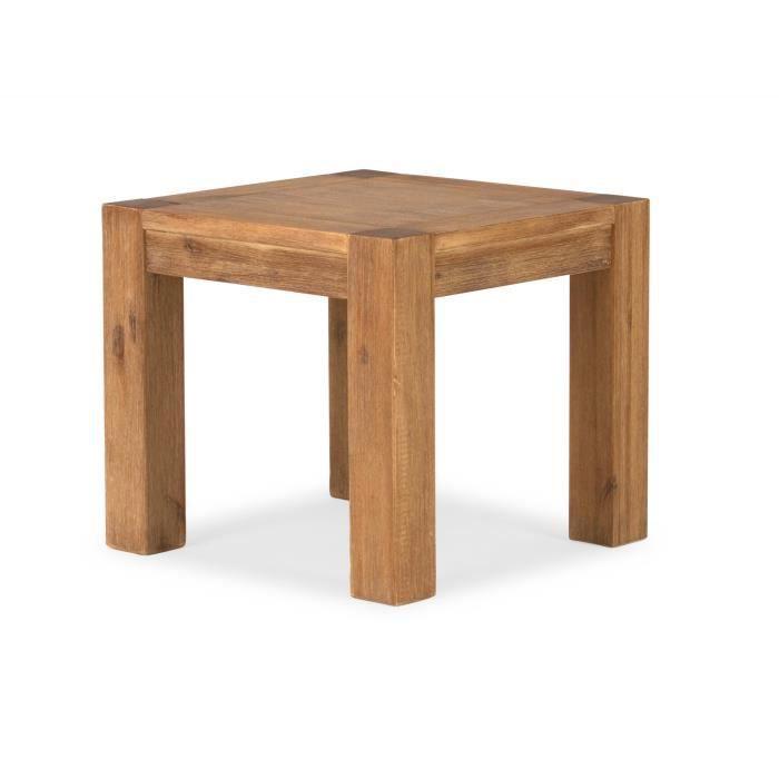Table d 39 appoint savon 50x50 en acacia miel clair massivum for Table 50x50