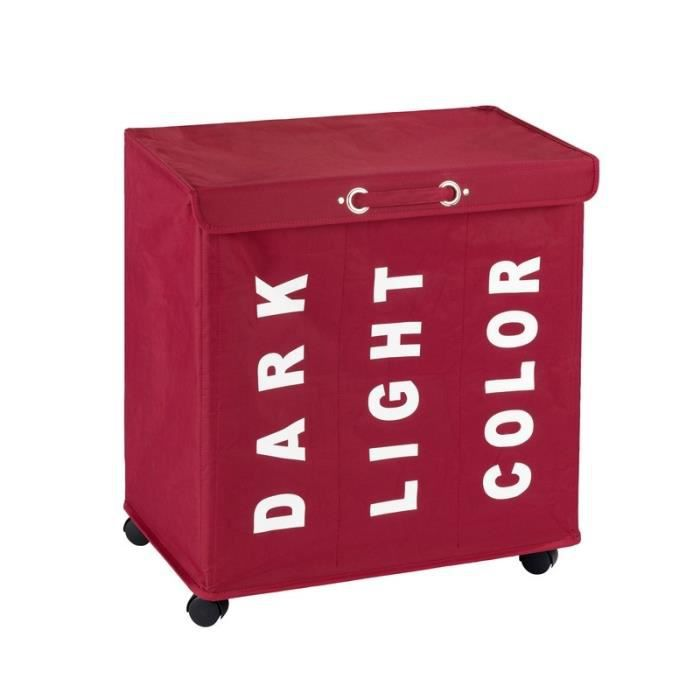panier a linge 3 compartiments achat vente panier a linge 3 compartiments pas cher cdiscount. Black Bedroom Furniture Sets. Home Design Ideas
