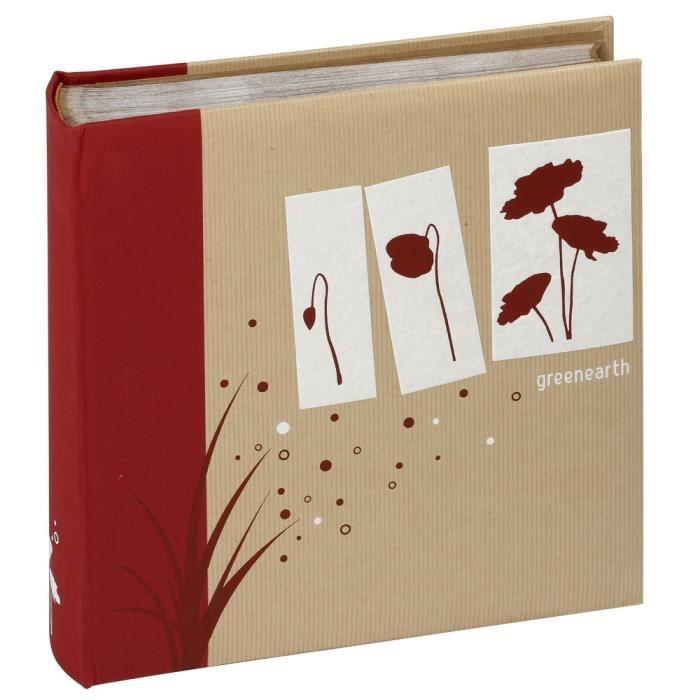 Panodia album photo traditionnel greenearth rouge 29x29 cm - Album photo traditionnel panodia ...