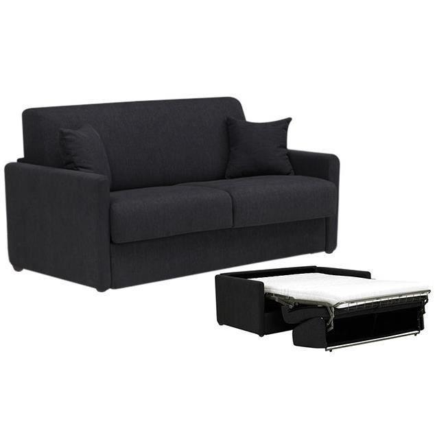 Canap convertible star tissu noir 140x190 achat vente canap sofa di - Canape convertible 140x190 ...