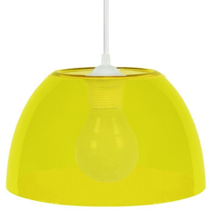 suspension plexi e27 15 w 25 cm jaune achat vente suspension plexi e27 15 w 25 cm jaune. Black Bedroom Furniture Sets. Home Design Ideas