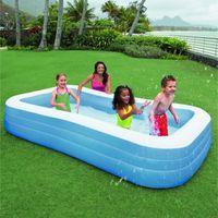 Intex piscine gonflable rectangulaire pour la famille 3 for Piscine gonflable rectangulaire adulte