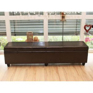 banquette coffre de rangement marron achat vente banquette coffre de rangement marron pas. Black Bedroom Furniture Sets. Home Design Ideas