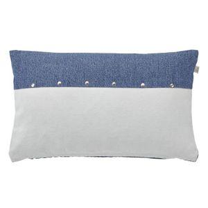 housse de coussin 30x50 bleu achat vente housse de coussin 30x50 bleu pas cher cdiscount. Black Bedroom Furniture Sets. Home Design Ideas