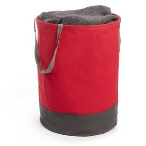 Panier a linge sale rouge achat vente panier a linge - Panier a linge 2 compartiments ...