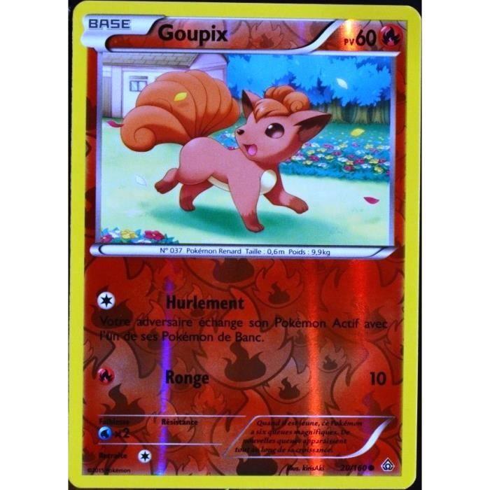 Carte pok mon 20 160 goupix 60 pv reverse s rie achat vente carte a collectionner cdiscount - Tout les carte pokemon ex du monde ...