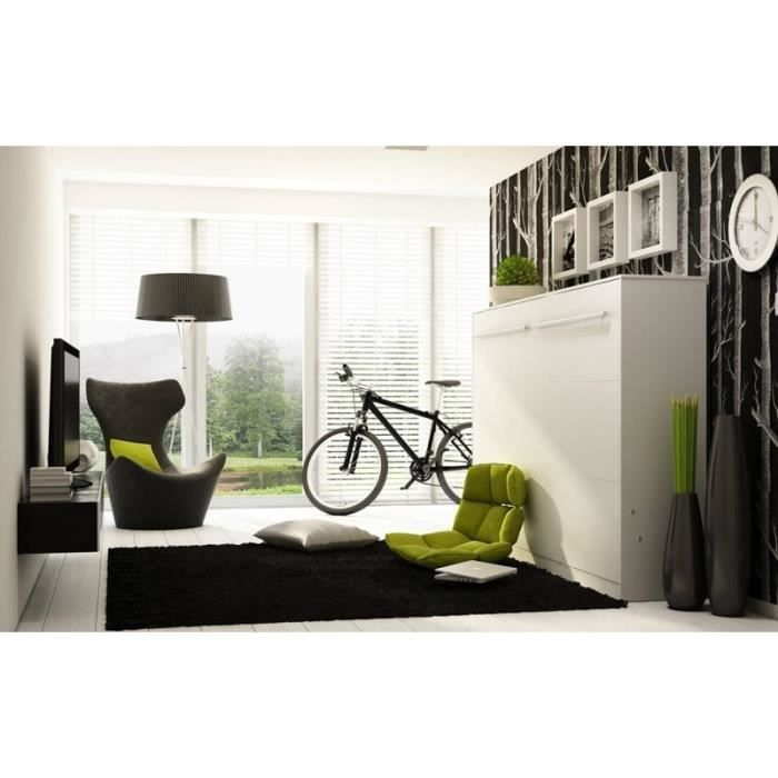 lit escamotable horizontal chene clair duo ch achat vente lit escamotable lit escamotable. Black Bedroom Furniture Sets. Home Design Ideas