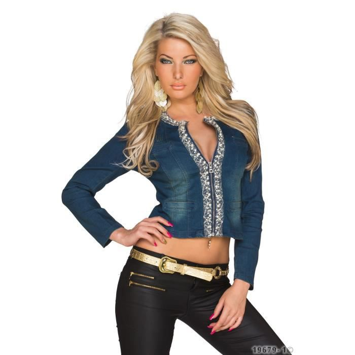 Car la veste en jean gagne toujours à être ajustée. Quant à la longueur, il n'y a pas de règle absolue: on aime bien la coupe courte bien que plutôt réservée aux tailles fines ; une veste un peu plus longue ne manque pas non plus d'élégance.