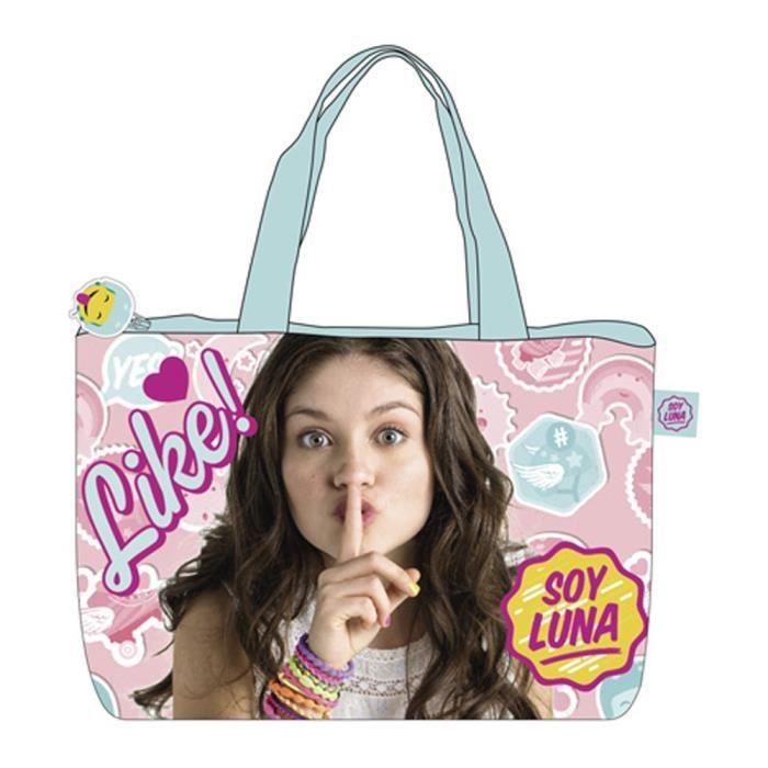 soy luna sac de plage 48cm chut like soy luna rose achat vente panier sac de plage. Black Bedroom Furniture Sets. Home Design Ideas