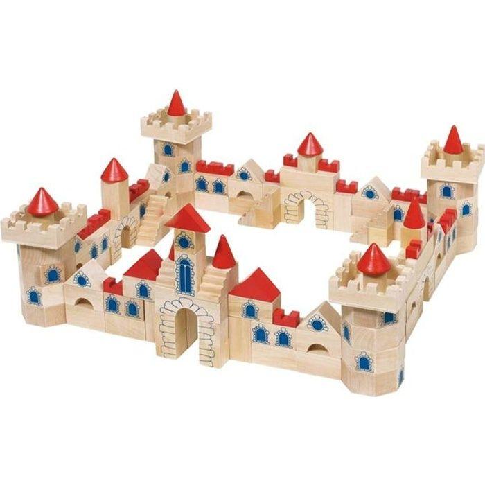 juniors jeux de construction chateau en bois  pieces f gok