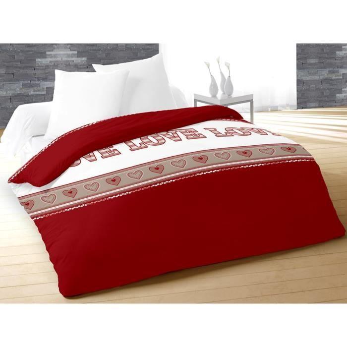 soleil d 39 ocre couette imprim e nicolas 220x240 cm rouge achat vente couette cdiscount. Black Bedroom Furniture Sets. Home Design Ideas